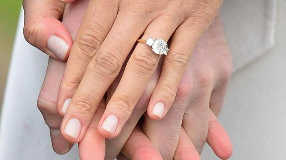 Harry designed the engagement ring which was made by Cleave and Company, Court Jewellers and Medallists to Her Majesty The Queen.
