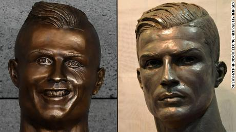 Which bust of Cristiano Ronaldo do you like better? The left is from March and the right was created in November.