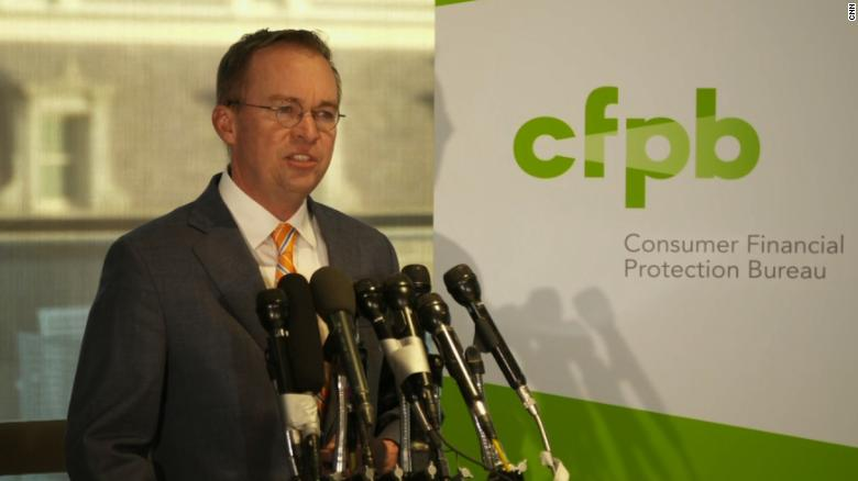 Mulvaney: Elections have consequences at CFPB