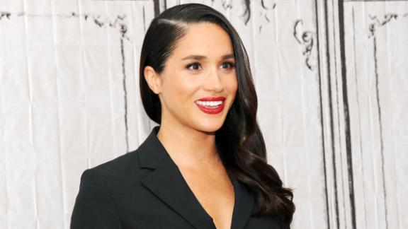 Meghan Markle visits AOL Studios in New York in March 2016. Markle, a former actress, is best known for her role as Rachel Zane in the hit TV series