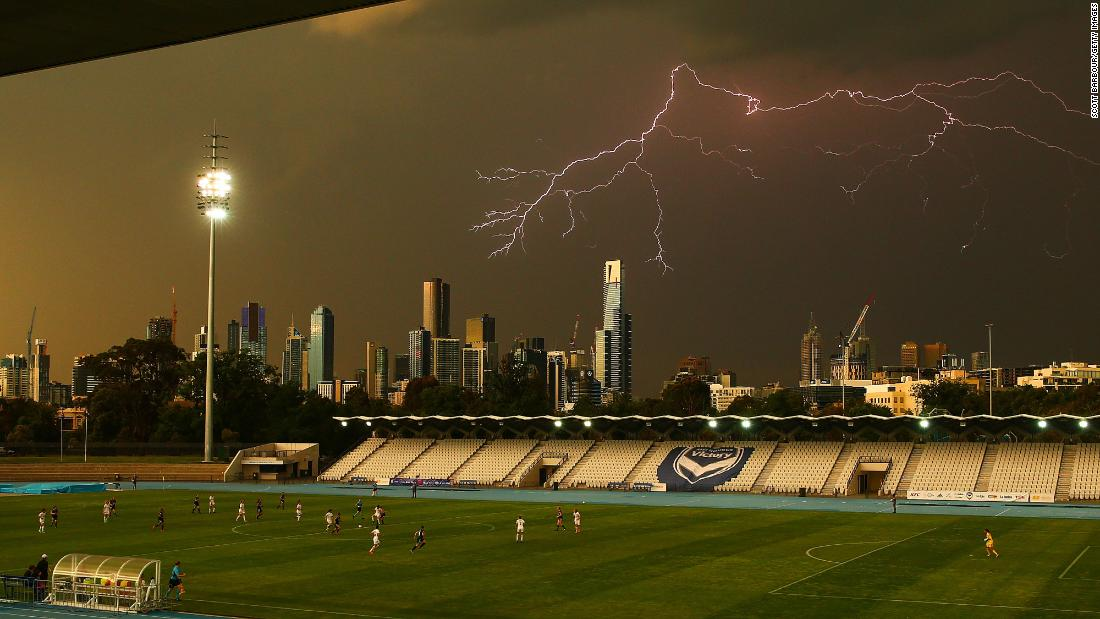 "Lightning strikes above Melbourne during a pro soccer match on Friday, November 24. <a href=""http://www.cnn.com/2017/11/20/sport/gallery/what-a-shot-sports-1121/index.html"" target=""_blank"">See 29 amazing sports photos from last week</a>"
