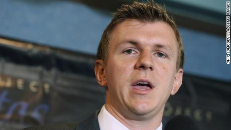 "WASHINGTON, DC - SEPTEMBER 01:  Conservative undercover journalist James O'Keefe (R) holds a news conference at the National Press Club September 1, 2015 in Washington, DC. O'Keefe released a video of that accuses the Democratic frontrunner Hillary Clinton's director of marketing and FEC compliance director of breaking the law by allowing a Canadian tourist to buy $75 of campaign swag using the Project Veritas Action journalist as a straw purchaser. O'Keefe promised that people will resign from their jobs as his ""Army of Exposers"" record and release more undercover videos during the 2016 campaign.  (Photo by Chip Somodevilla/Getty Images)"