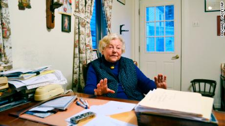 Anna Konopka in her office in New London, New Hampshire, where she keeps paper files, not computerized ones.