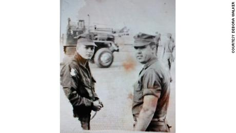 James Hollingsworth, left, and William Cox in Marble Mountain, Vietnam