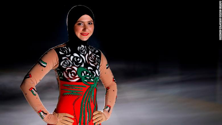 ABU DHABI, UNITED ARAB EMIRATES - MAY 19:  Figure Skater Zahra Lari of the United Arab Emirates poses for a portrait at Zayed Sports City on May 19, 2015 in Abu Dhabi, United Arab Emirates.  (Photo by Francois Nel/Getty Images)