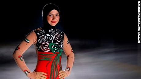 Zahra Lari World S First Head Scarf Wearing Professional Ice Skater Cnn