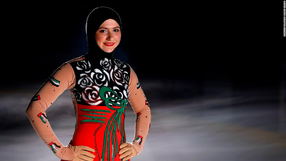 The United Arab Emirates is home to 22-year-old  Zahra Lari, the first professional figure skater to compete internationally wearing the headscarf, and the first skater from a Persian Gulf state to participate in international figure skating competitions.