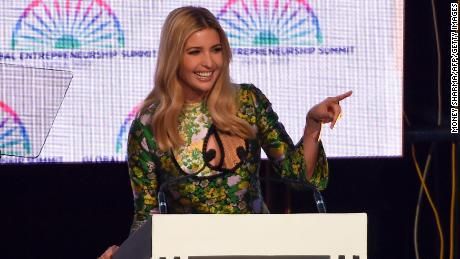 Advisor to the US President Ivanka Trump speaks during the Global Entrepreneurship Summmit at the Hyderabad convention centre (HICC) in Hyderabad on November 28, 2017. (MONEY SHARMA/AFP/Getty Images)