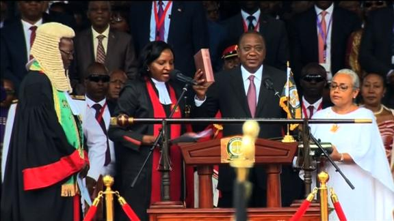 President Kenyatta sworn-in amid violent protests