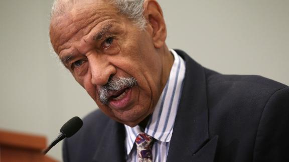 U.S. Rep. John Conyers (D-MI) speaks at a session during the Congressional Black Caucus Foundation