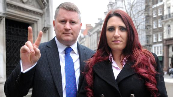 Paul Golding, leader of Britain First, and the party