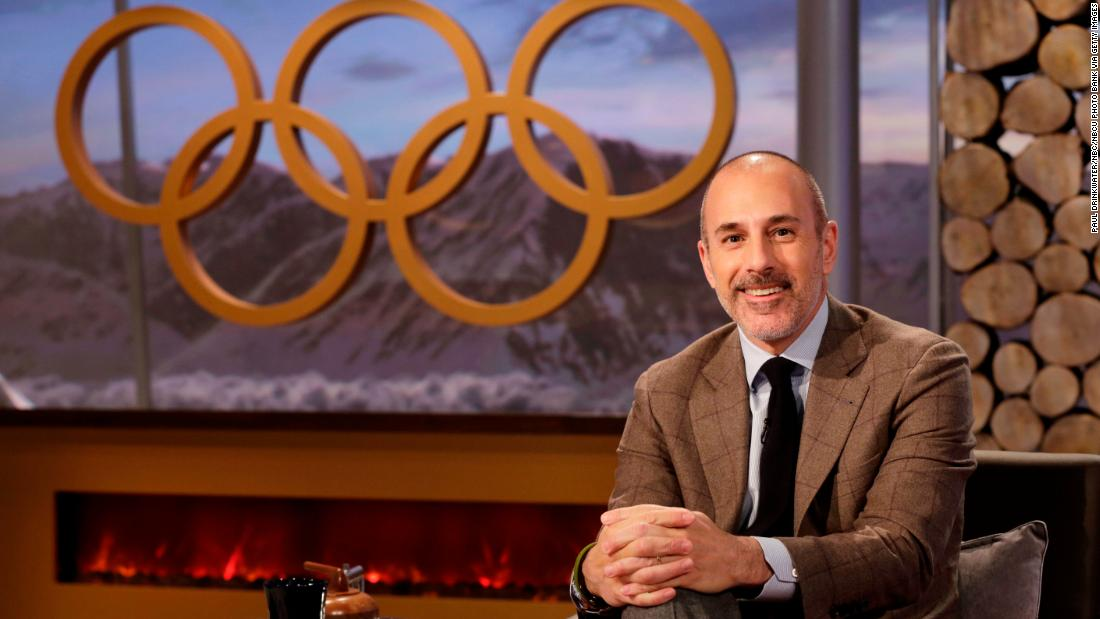 Lauer appears on set during the XXII Olympic Winter Games in Sochi, Russia in February 2014.