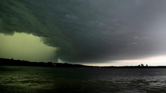 Destructive hail fell across the Minneapolis metro as an extensive storm system moved through Minnesota and Wisconsin. High winds also contributed to the damage that totaled $2.4 billion across the region.