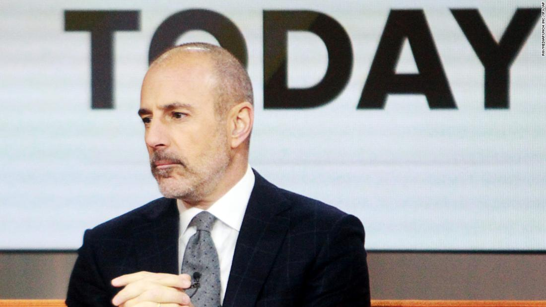 "Television journalist Matt Lauer hosts NBC's ""Today"" program in New York City in January 2014."