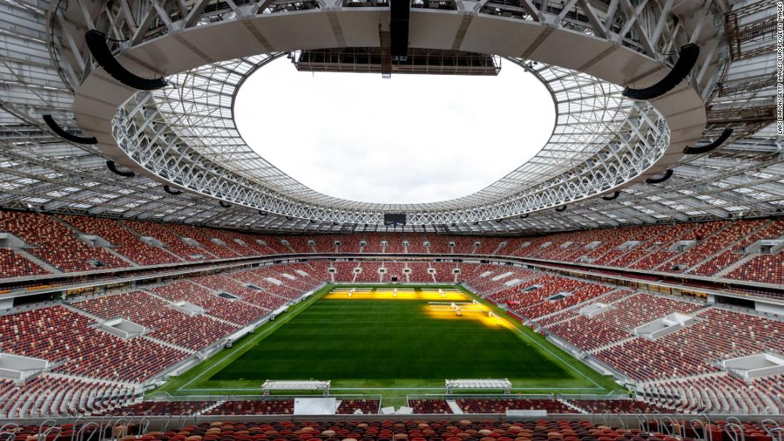 Now the Luzhniki Stadium has been refurbished -- with the athletics track removed and two extra tiers added -- while preserving its historical facade.