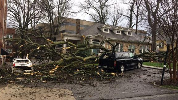 Severe storms stretching from the southern plains to Kentucky caused $2.6-$2.7 billion in damage. Large hail and high winds in Texas, just north of the Dallas metro, caused widespread damage.