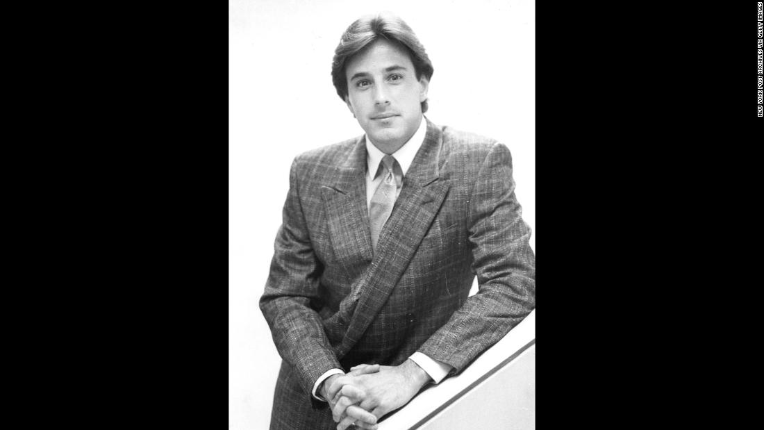 Lauer poses for a photo in June 1986.