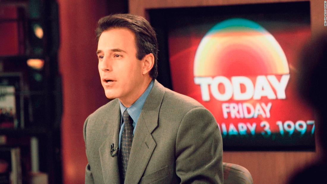 "Lauer on the set of the ""Today"" show in January 1997."