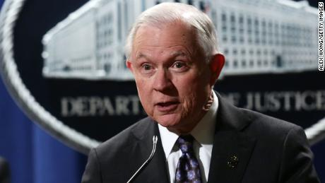 WASHINGTON, DC - NOVEMBER 29:  U.S. Attorney General Jeff Sessions speaks during a news conference at the Justice Department November 29, 2017 in Washington, DC. (Alex Wong/Getty Images)