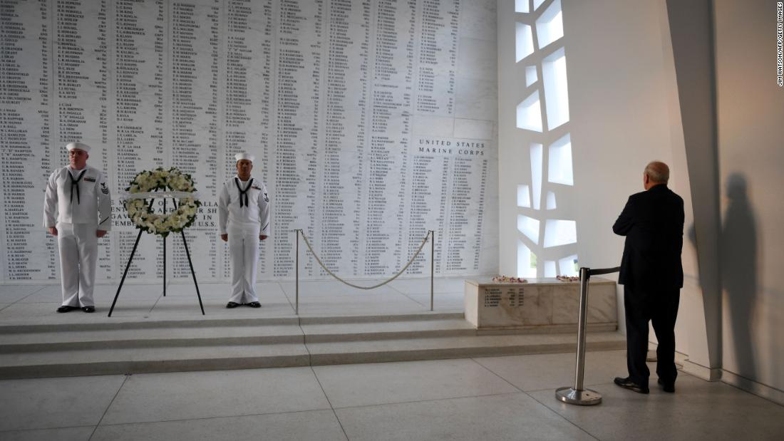 "While in Honolulu on Friday, November 3, White House Chief of Staff John Kelly visits the USS Arizona Memorial at Pearl Harbor. <a href=""http://www.cnn.com/2017/11/01/politics/gallery/us-military-october-photos/index.html"" target=""_blank"">See US military photos from October</a>"