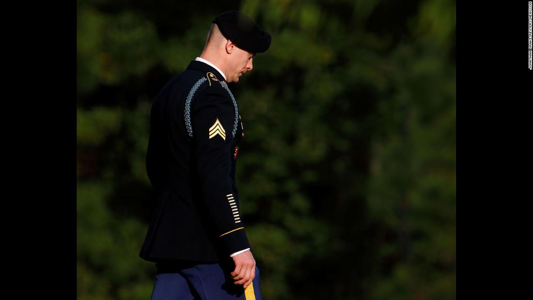 "Bowe Bergdahl leaves a courthouse in Fort Bragg, North Carolina, after sentencing proceedings on Thursday, November 2. Bergdahl, who disappeared from his Army base in Afghanistan in June 2009 and was held in captivity by the Taliban until May 2014, had pleaded guilty to desertion and misbehavior before the enemy. <a href=""http://www.cnn.com/2017/11/03/politics/bowe-bergdahl-sentenced/index.html"" target=""_blank"">He received a dishonorable discharge</a> from the Army but avoided prison time."