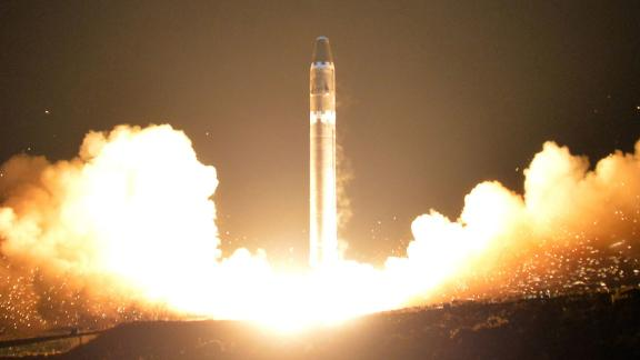 An image released Thursday, November 30 purports to show the Hwasong-15 missile launched Wednesday.