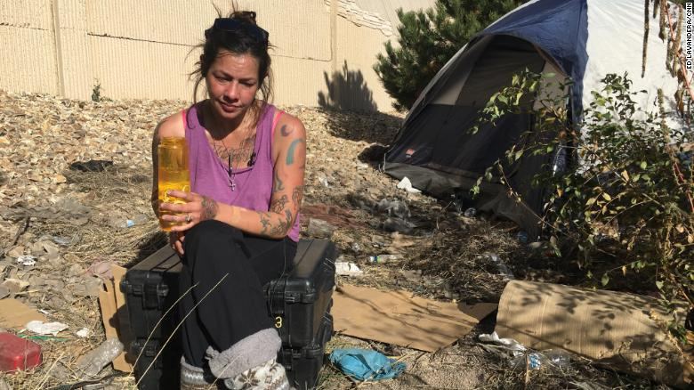 In September, CNN found Champ addicted to heroin and living on the street.