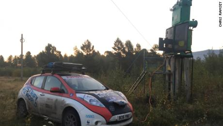 British couple drives grueling 10,000-mile rally in electric car