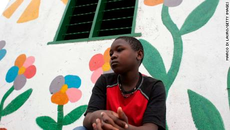 Lilian, 12, an HIV-positive orphan, at the Aidchild Orphanage in Mpigi, Uganda.