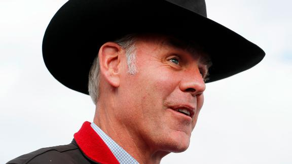 KANAB, UT - MAY 10: U.S. Secretary of the Interior Ryan Zinke talks to reporters before departing Kanab Airport on May 10, 2017 in Kanab, Utah. Zinke has been in the state of Utah since Sunday talking with state and local officials and touring the Bears Ears National Monument and Grand Staircase-Escalante National Monument, to help determine their future status under the Trump Administration. (Photo by George Frey/Getty Images)