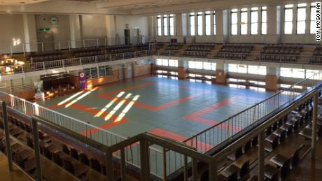 The eighth-floor gymnasium at the Kodokan.