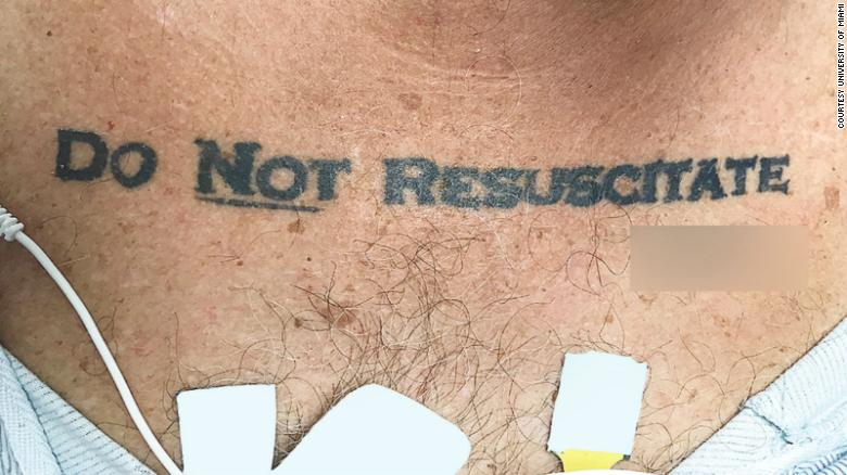 A Man Admitted To A Florida Hospital Had An Unusual Do Not Resuscitate Order,  A