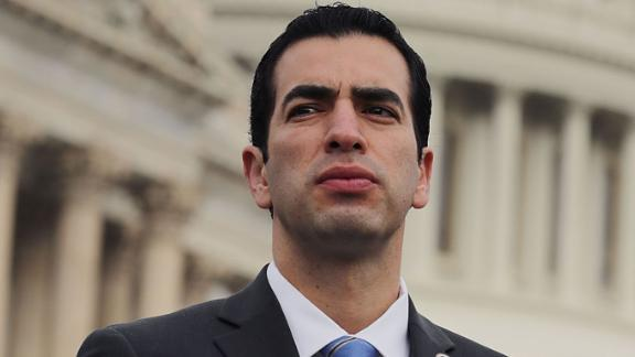 Rep. Ruben Kihuen is seen outside the US Capitol last month in Washington. (Photo by Chip Somodevilla/Getty Images)