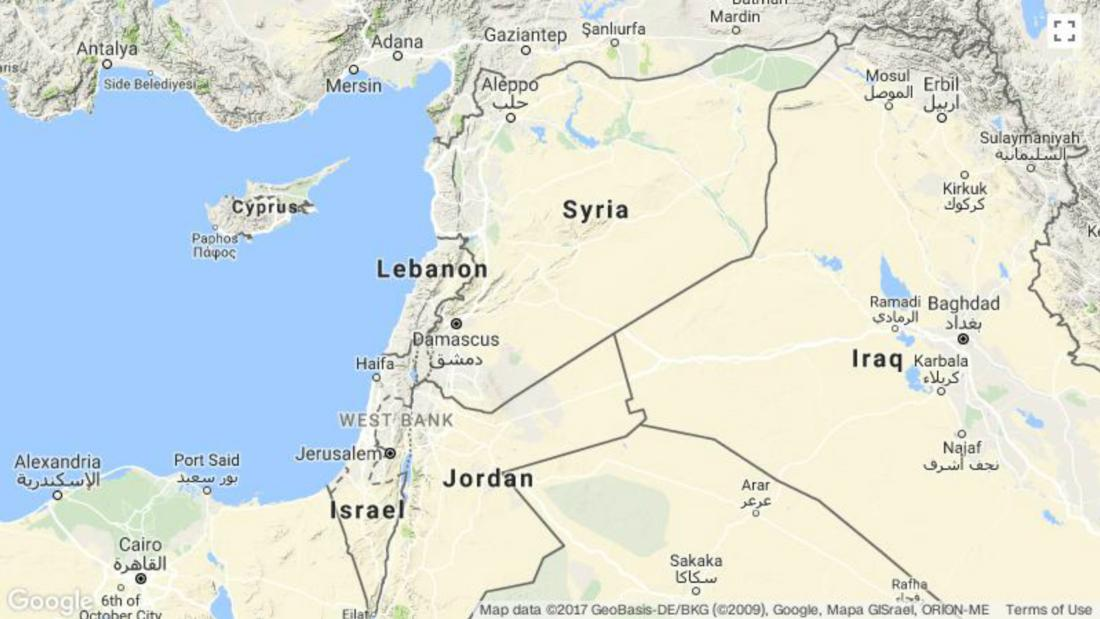 Israel Strikes Military Site Near Damascus Syrias Staterun News - Syria world map