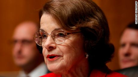 Judiciary Committee racking member Sen. Dianne Feinstein, D-Calif., speaks during a Senate Judiciary Committee hearing on nominations on Capitol Hill in Washington, Wednesday, Nov. 15, 2017. (AP Photo/Carolyn Kaster)
