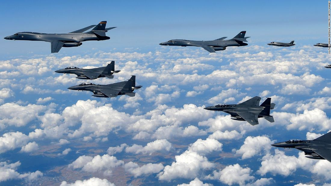 Warplanes from four countries face off in Asian confrontation