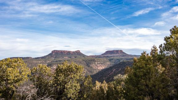 The two distinctive buttes that give Bears Ears its name.