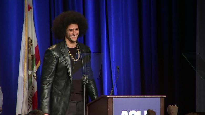colin kaepernick honored aclu award sot _00000000