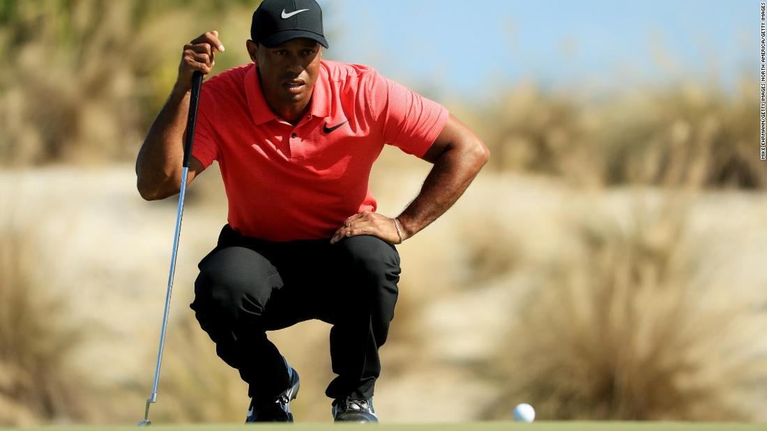 <strong>Pain free:</strong> Able to swing freely and aggressively and appearing to experience no discomfort as he bent down, Woods' comeback at the Hero World Challenge showed promising signs.