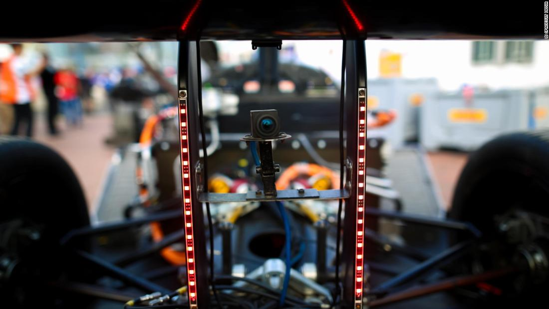 The Devbot is fitted with state-of-the-art sensing equipment -- including LIDAR and cameras -- which enable it to navigate its way safely around a track.