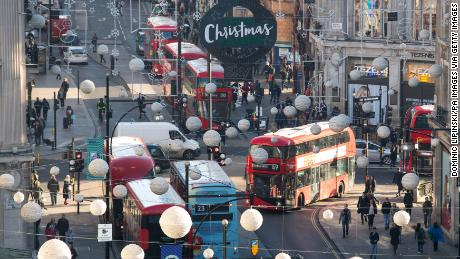 A general view of Oxford Street, London, as the Mayor of London Sadiq Khan has unveiled plans to pedestrianise the western section of the popular shopping area. (Photo by Dominic Lipinski/PA Images via Getty Images)