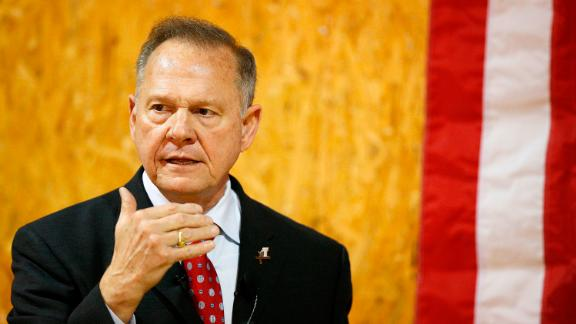 Former Alabama Chief Justice and U.S. Senate candidate Roy Moore speaks at a campaign rally, Thursday, Nov. 30, 2017 in Dora, Ala. (AP Photo/Brynn Anderson)