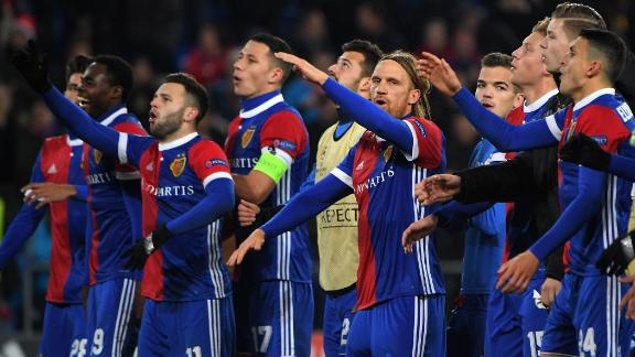 FC Basel beat Manchester United in last season's Champions League.