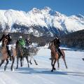 St Moritz ski resort guide horses lake