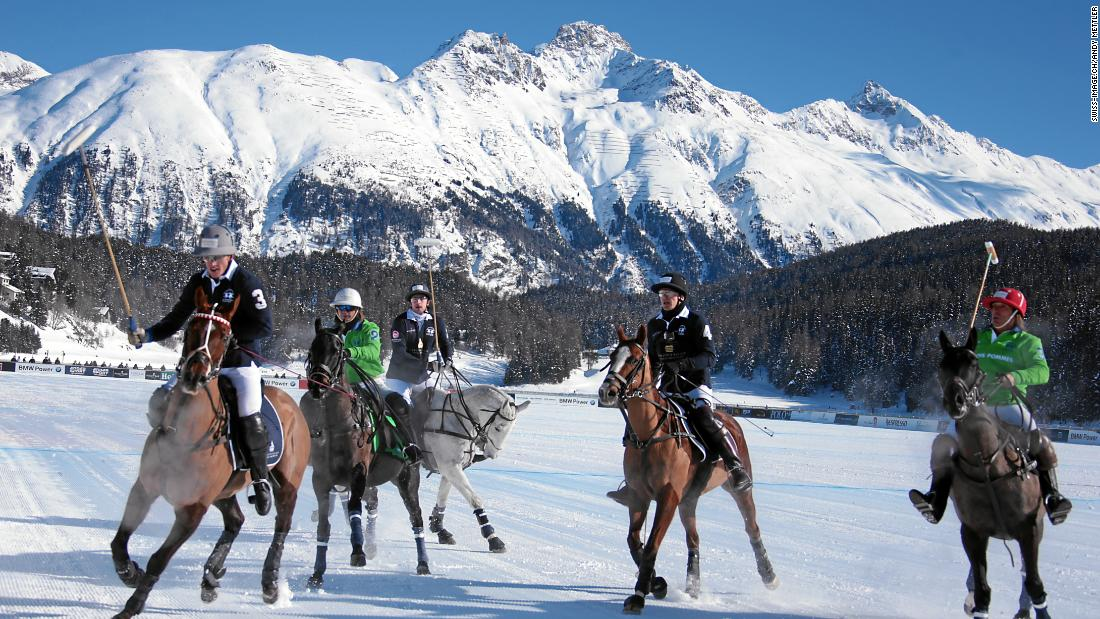 <strong>Frozen fun:</strong> The ice-covered lake offers plenty of variations on a winter sports theme, with a prestigious polo tournament every January one of the highlights.