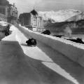St Moritz ski resort guide Cresta Run black and white