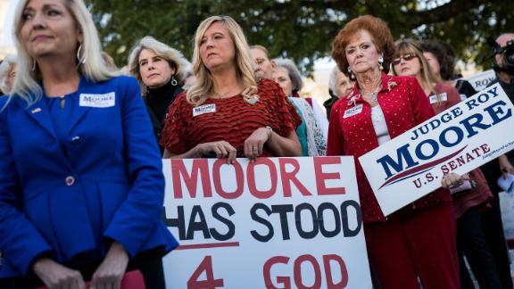 MONTGOMERY, AL - NOVEMBER 17: Women attend a