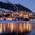 St Moritz ski resort guide town night