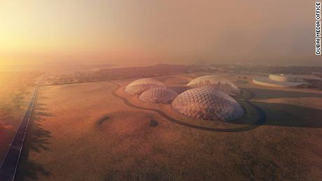 An artist's rendering of the Mars Science City, slated to be built on the outskirts of Dubai.