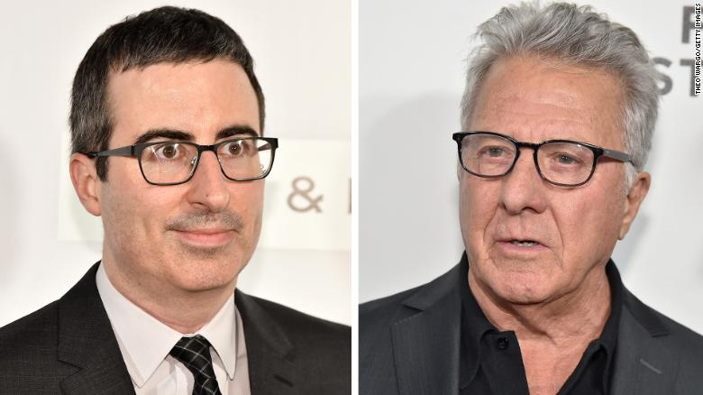 John Oliver grills Dustin Hoffman on harassment